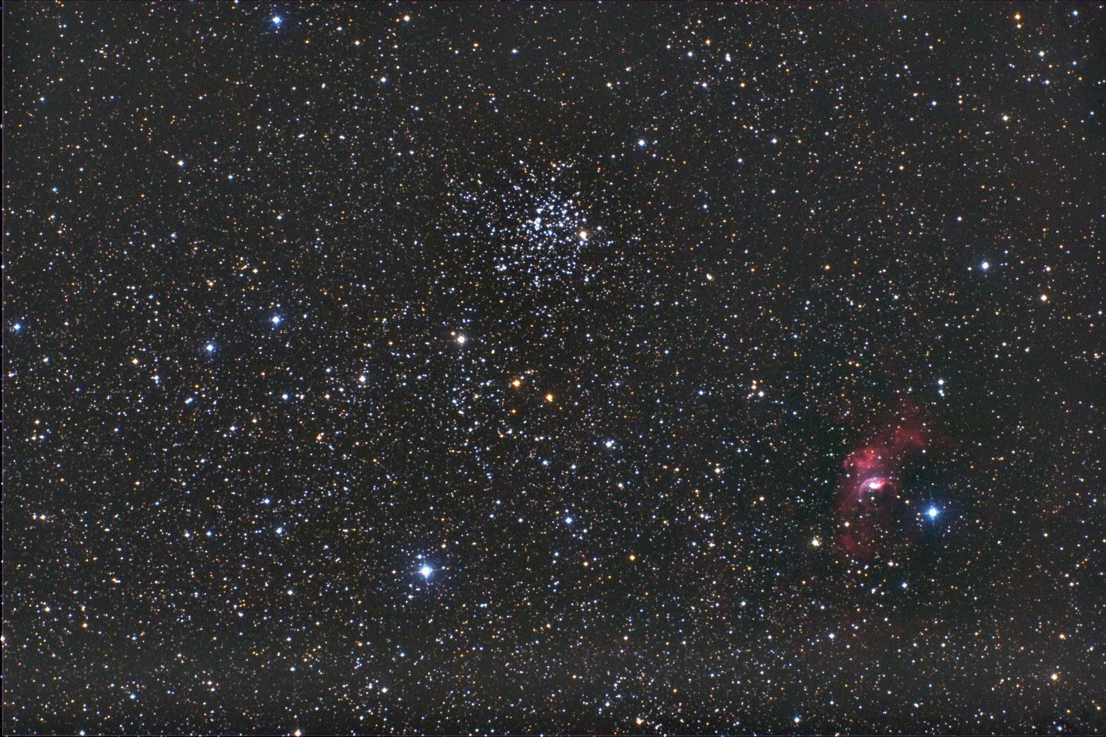 Messier 52 und NGC 7635 - 03.09.10